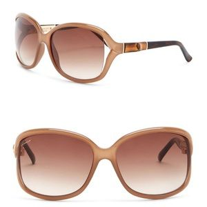 Authentic GUCCI Brown tortoise butterfly sunglasse